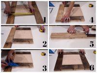 DIY Reclaimed Wood Mirror Frame | DIY Montreal