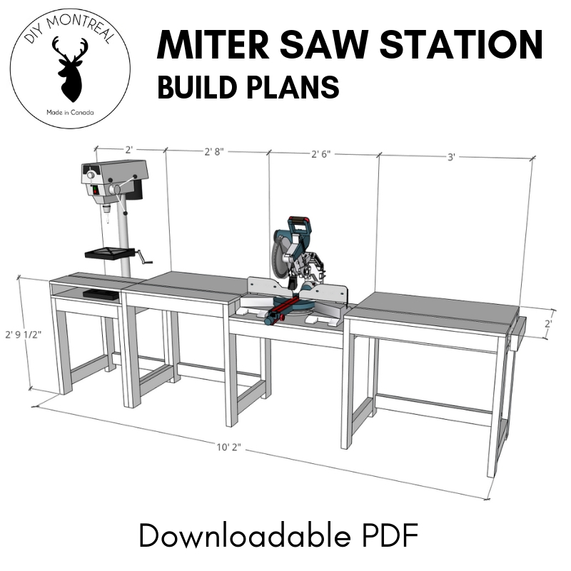 Miter Saw Station Build Plans