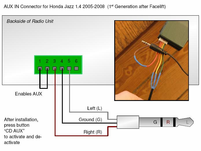 ford focus stereo wiring diagram 2006 2002 grand cherokee radio adapter for aux to headphone jack connect mp3 player or ipod | honda fit diy