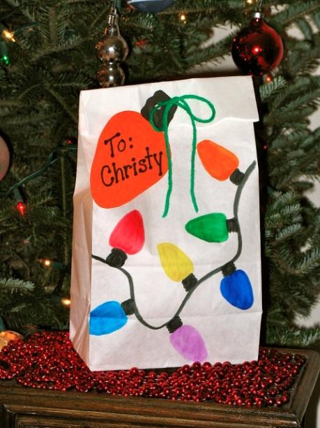 Christmas Gift Bag Decorating Ideas