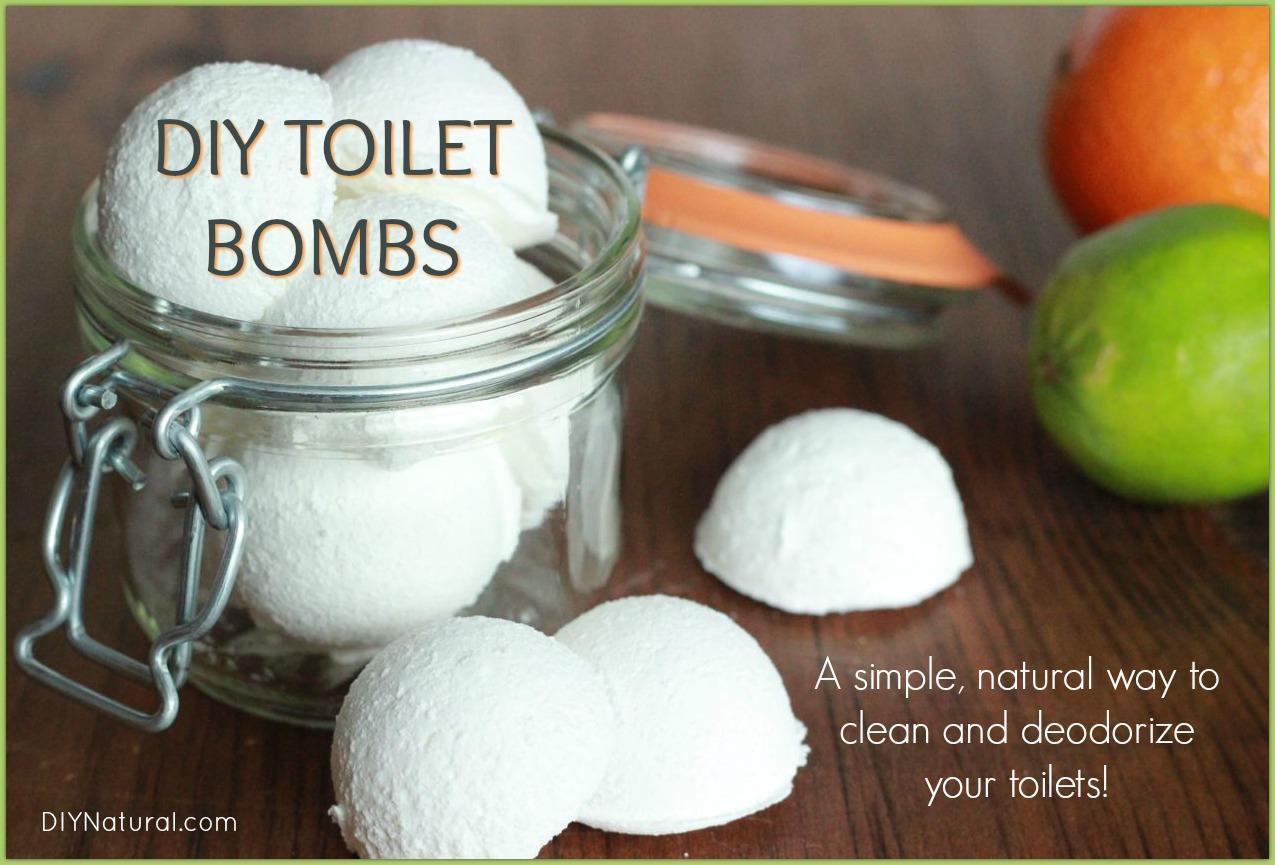 DIY Toilet Bombs Deodorizing Homemade Toilet Bowl Cleaner