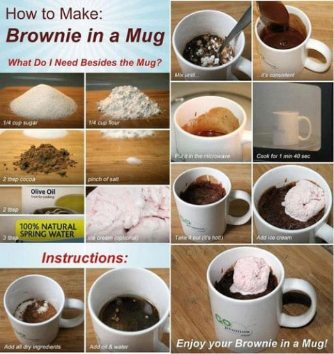 Brownie in a mug - Top 68 Lifehacks and Clever Ideas that Will Make Your Life Easier