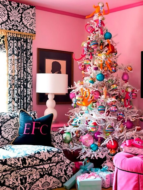 decorate small living room for christmas curtains gallery 30 stunning ways to your diy source femaleways bold and colorful this