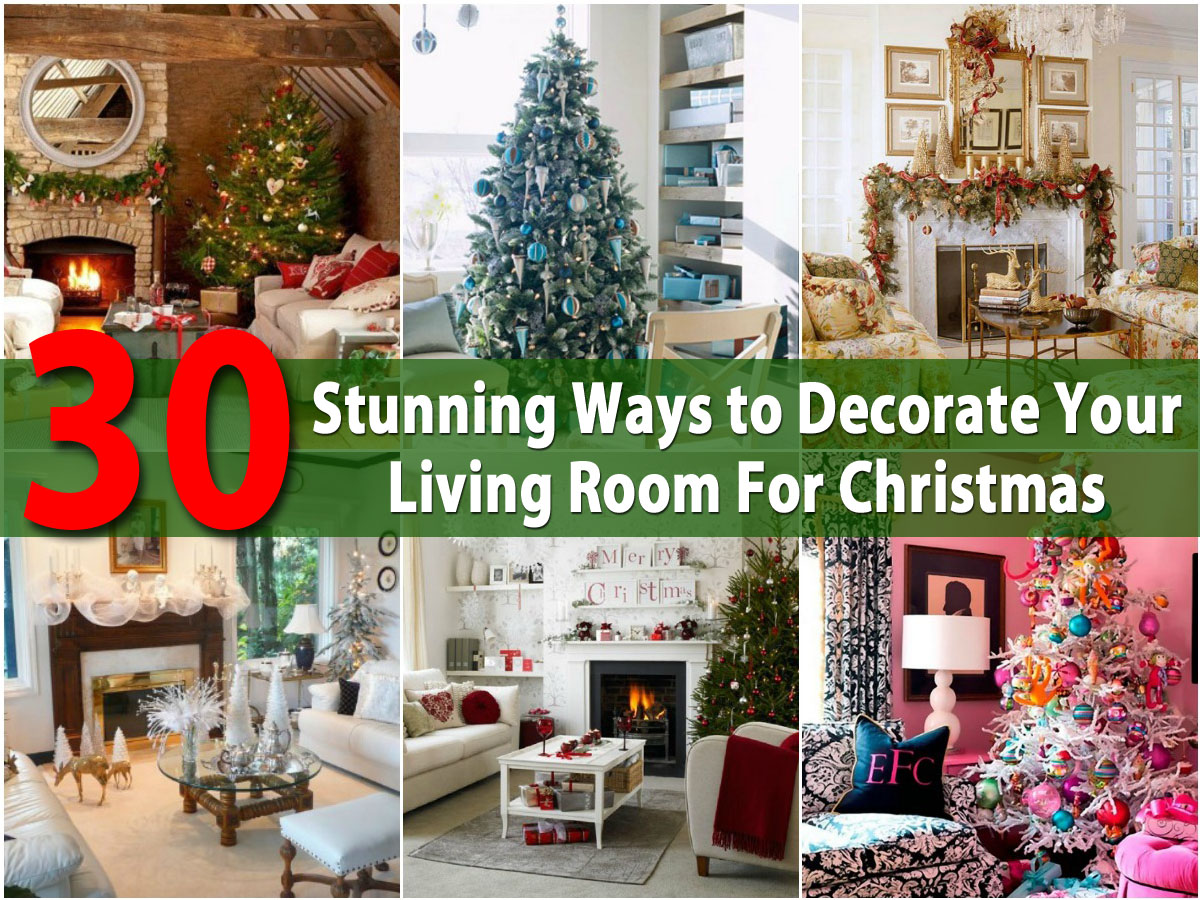 images of christmas living room decorations decorating small with tv 30 stunning ways to decorate your for diy crafts