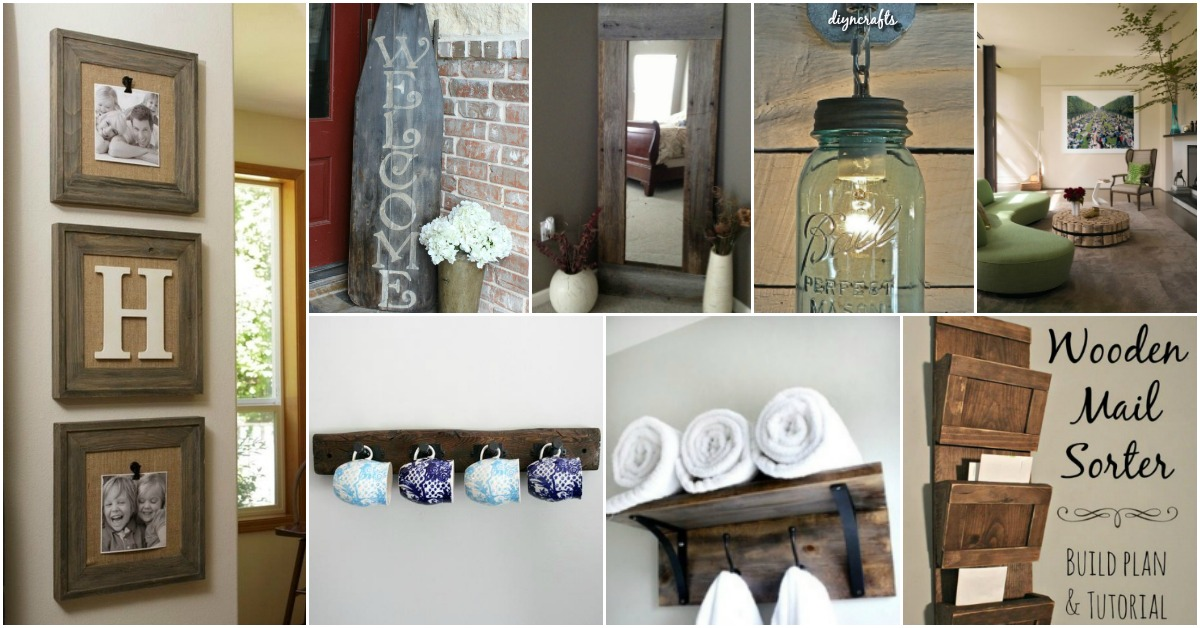 rustic decorating ideas for living room pictures 40 home decor you can build yourself diy crafts