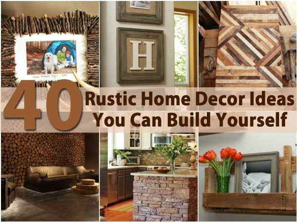 DIY Rustic Country Home Decor Ideas