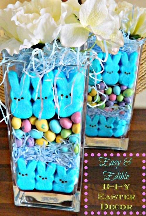 Delicious Vase Display - 80 Fabulous Easter Decorations You Can Make Yourself
