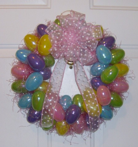 Easter Egg Wreath - 40 Creative DIY Easter Wreath Ideas to Beautify Your Home