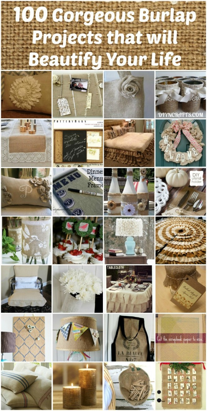 Diy Projects With Burlap And Creative Crafts For Home Decor Giftore