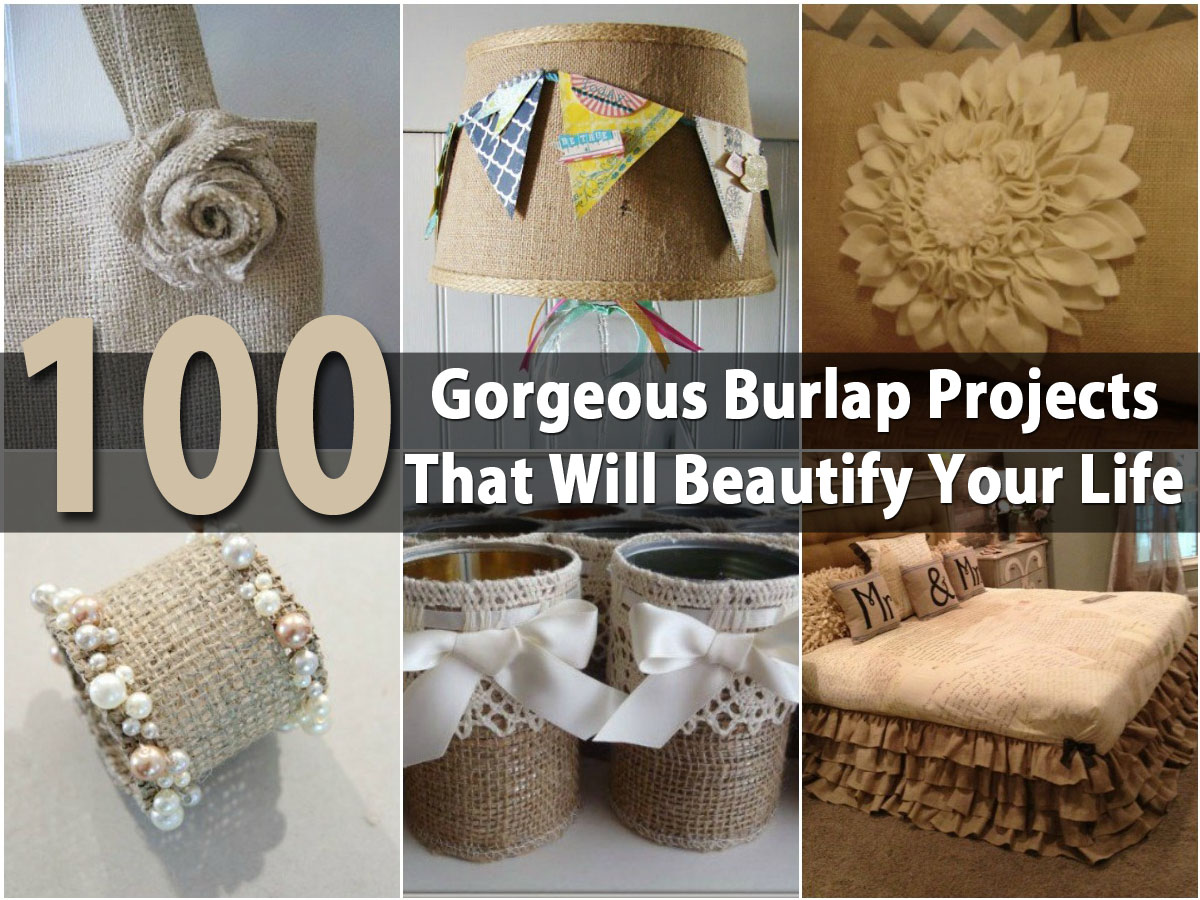 100 Gorgeous Burlap Projects That Will Beautify Your Life DIY Amp Crafts