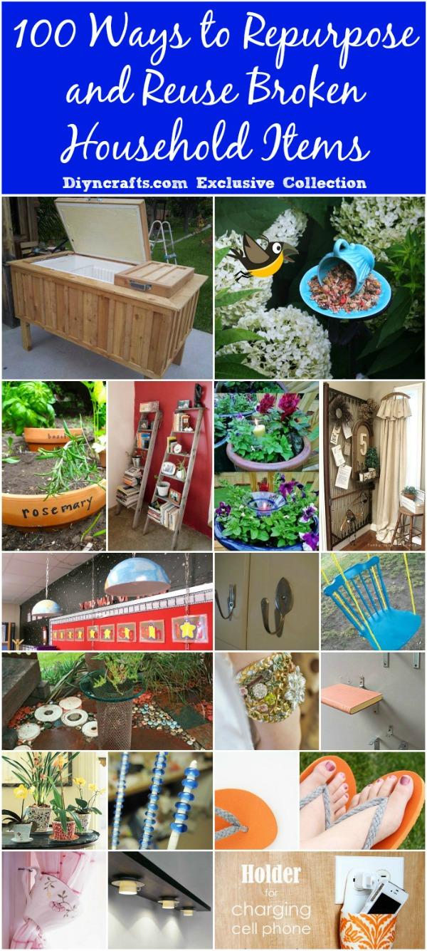 medium resolution of 100 ways to repurpose and reuse broken household items