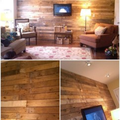 Wood Wall Living Room Brown And Blue Curtains For 15 Creatively Genius Diy Walls Crafts Pallet