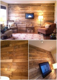 15 Creatively Genius DIY Wood Walls - DIY & Crafts