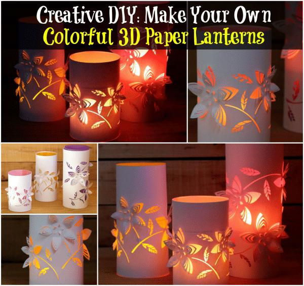 Creative DIY Make Your Own Colorful 3D Paper Lanterns  DIY  Crafts