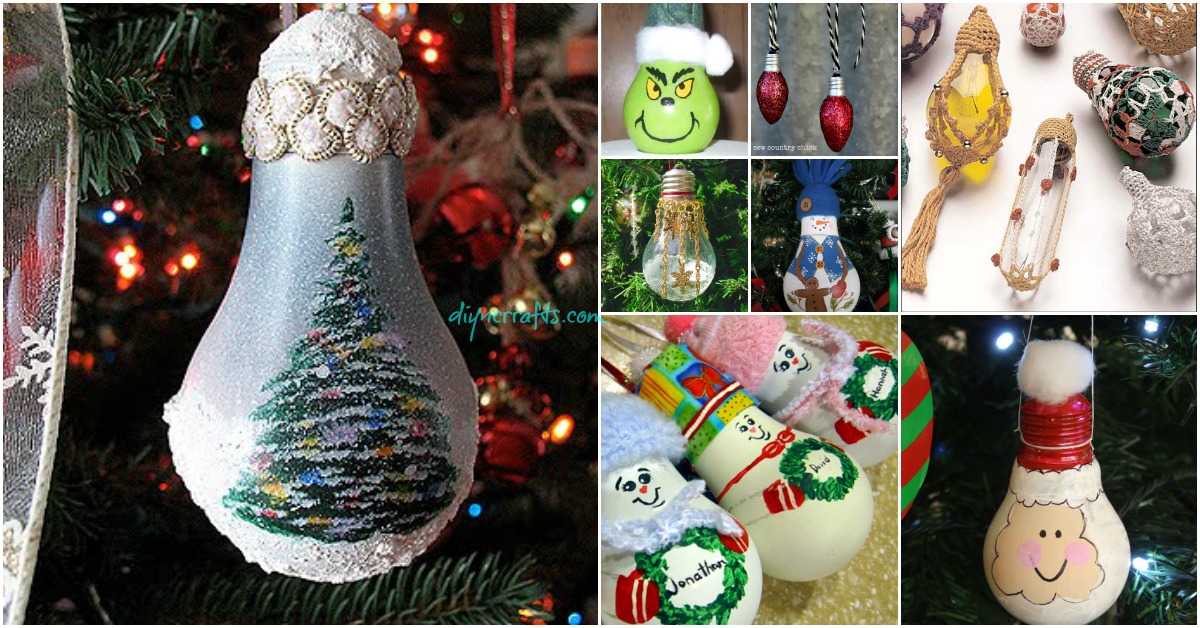 10 Insanely Easy Christmas Light Bulb Decorations And