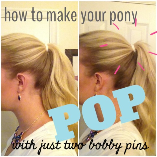 Propped Ponytail - 21 Unexpectedly Stylish Ways to Wear Bobby Pins