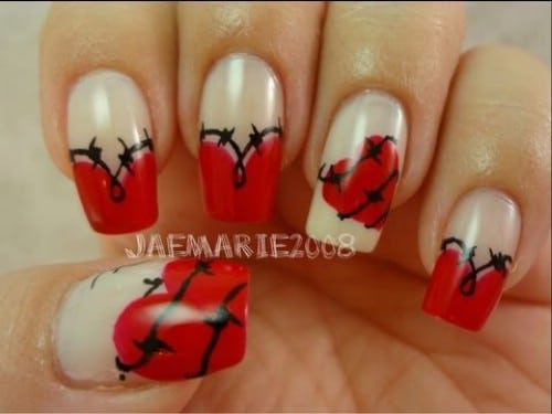 Fl Hearts 20 Ridiculously Cute Valentine S Day Nail Art Designs