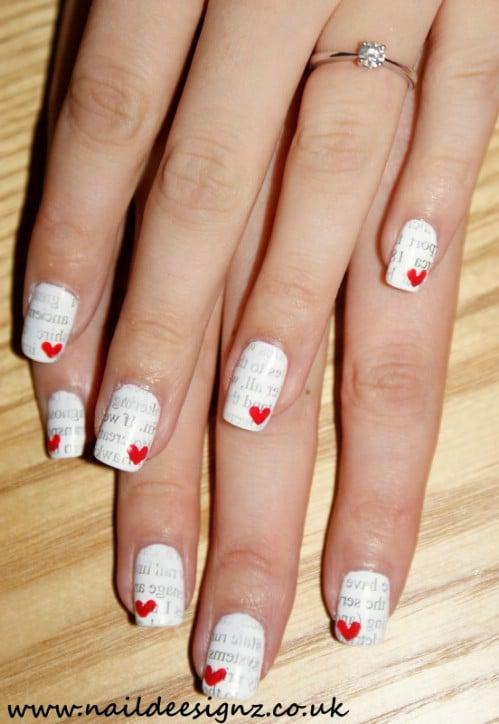 Beautiful Heart And Zebra Nail Art Diy Alldaychic