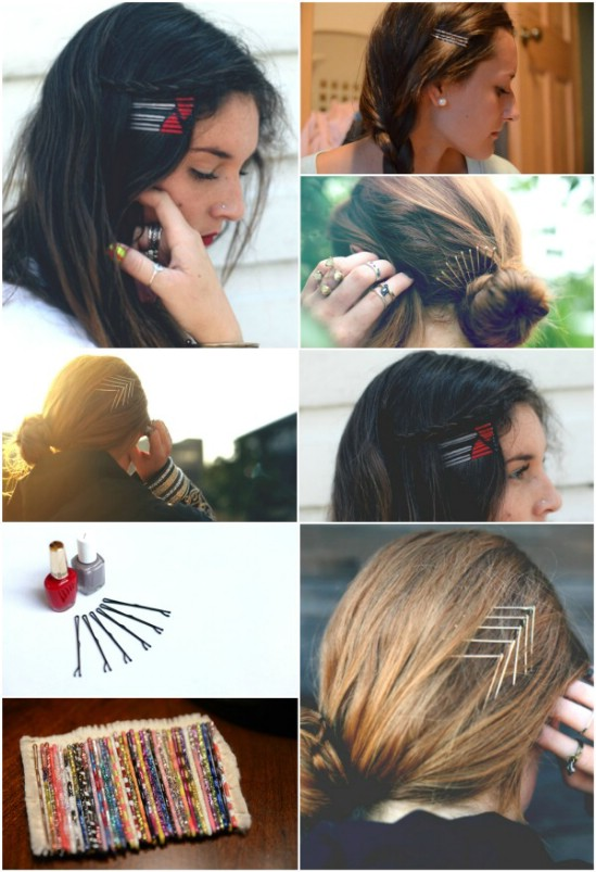 Painted Pins - 21 Unexpectedly Stylish Ways to Wear Bobby Pins