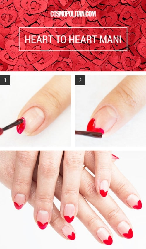 Heart Tips 20 Ridiculously Cute Valentine S Day Nail Art Designs