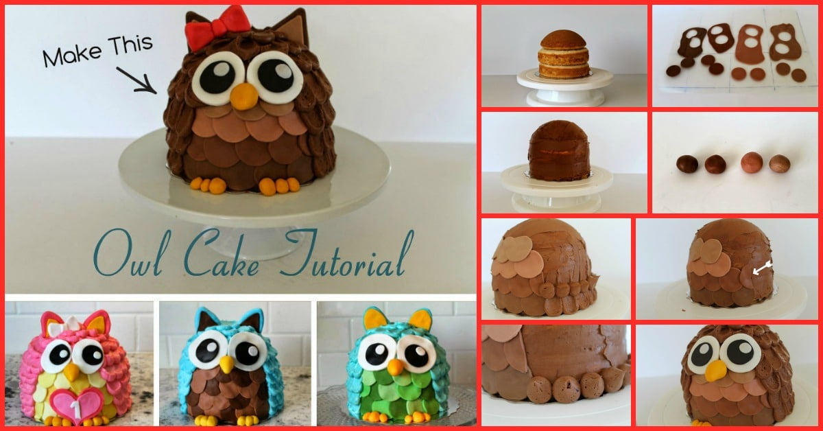 Cutest Cake Ever You Can Actually Make This Tasty Owl