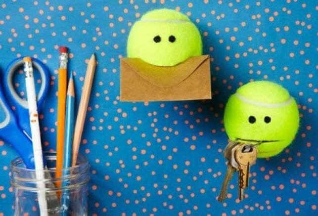 Get these adorable tennis balls to hold your keys and other loose items.