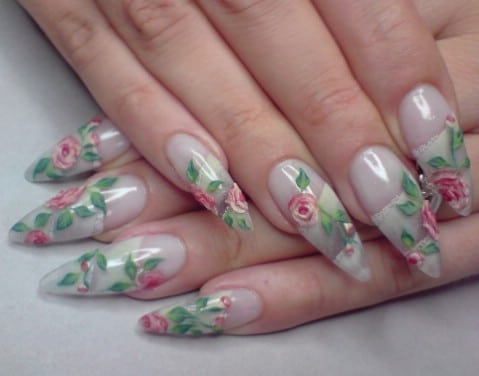 Those Flowers Have Real Texture And Actually Stand Out Very Slightly From The Surface Of Nails