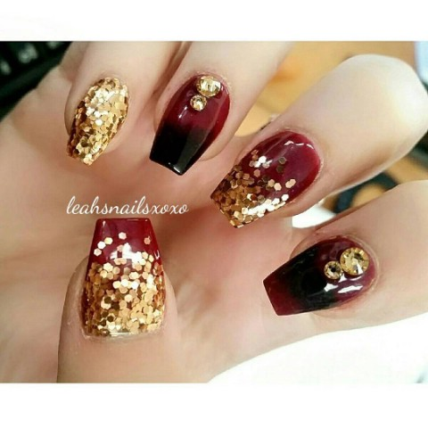 Elegance In Black Maroon And Gold