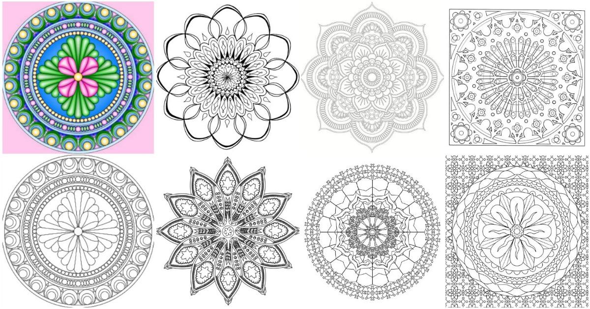 15 Amazingly Relaxing Free Printable Mandala Coloring ...   free mandala colouring pages for adults