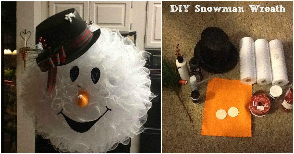 Make Your Front Door Fun and Festive with this Easy DIY Snowman Wreath  DIY  Crafts
