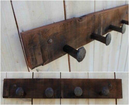 Simple Rustic Coat Rack
