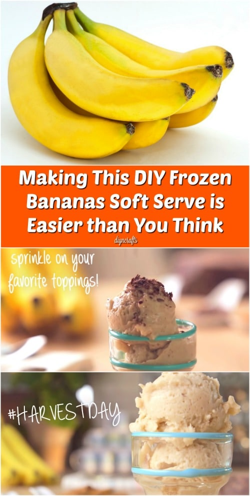Making This DIY Frozen Bananas Soft Serve is Easier than You Think {Recipe}