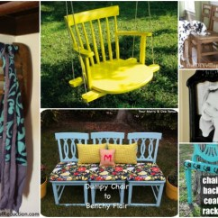 Ladderback Dining Chairs Swivel Bucket Chair 20 Brilliantly Creative Ways To Repurpose Old - Diy & Crafts