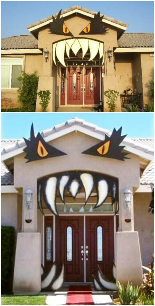 30 Monster Doors and Monster Wreaths to Greet Trick