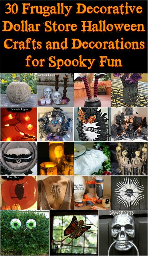30 Frugally Decorative Dollar Store Halloween Crafts and