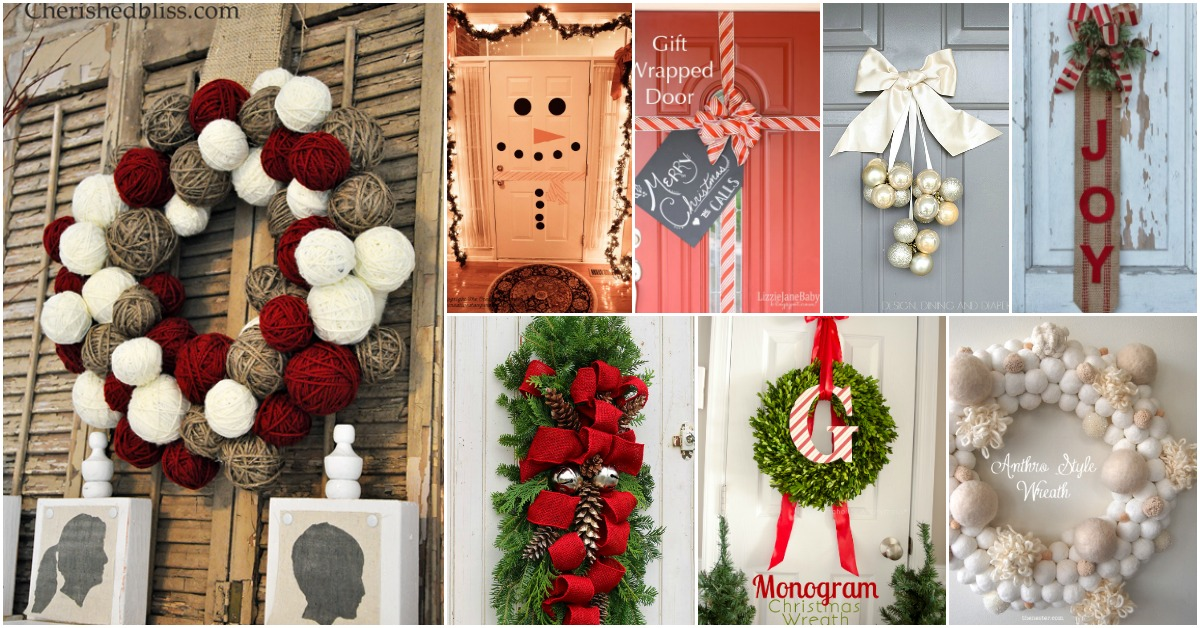 20 DIY Christmas Door Decorations To Make Your Home