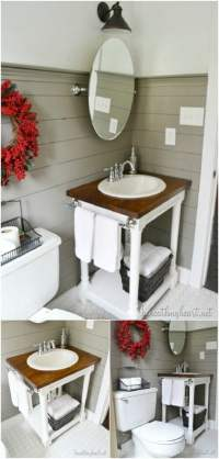 20 Gorgeous DIY Bathroom Vanities to Beautify Your Beauty