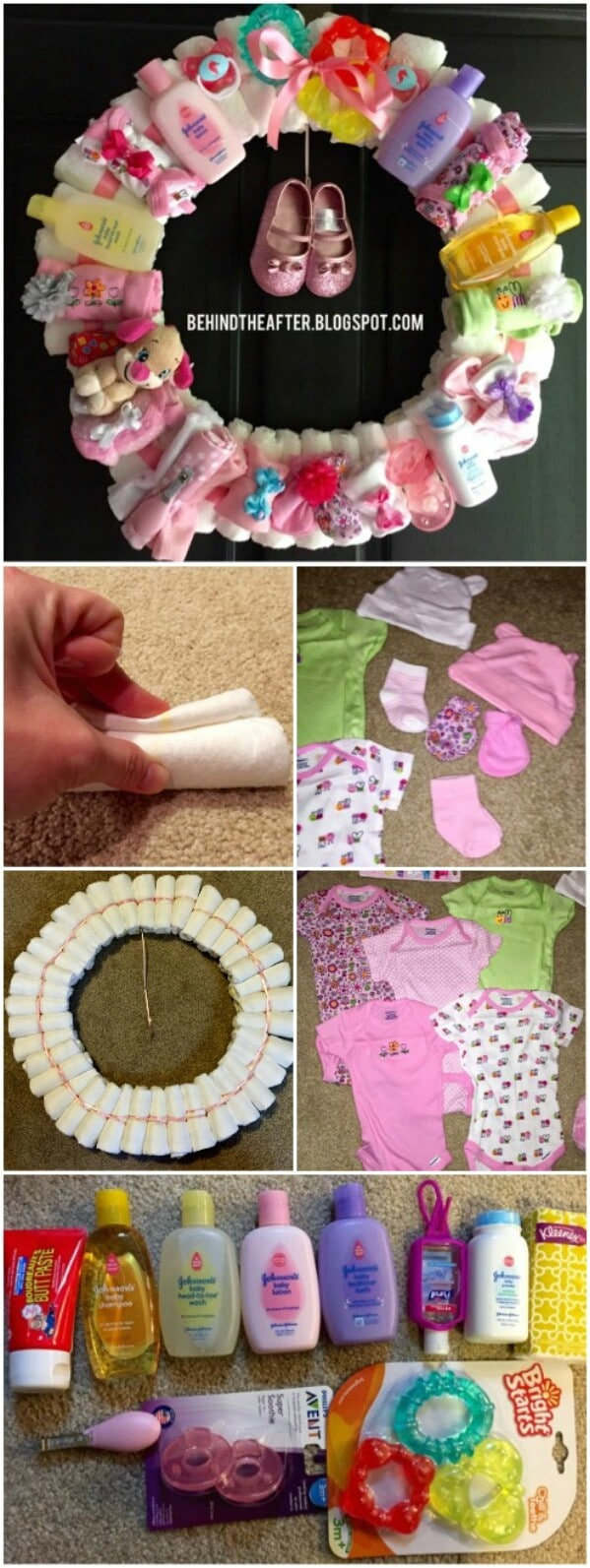 If you are going to be showering mom-to-be with a lot of small gifts like  toys, mittens, shoes, hats, and assorted baby products, one fun idea is to  create ...