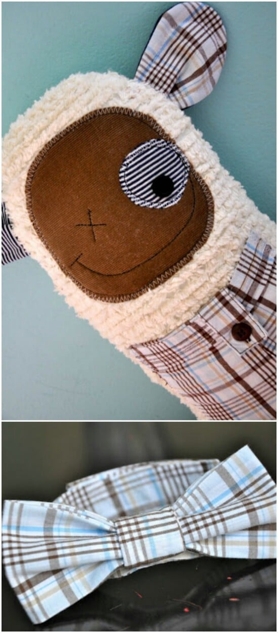 Whimsy Clothing Animal - 20 Adorably Creative Upcycling Projects To Repurpose Old Baby Clothes