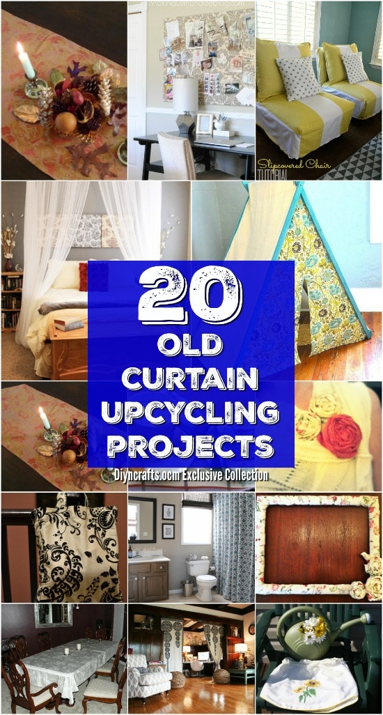 chairs that make into a bed high backed uk 20 repurposing ideas to good use of old curtains - diy & crafts