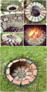 Brick Fire Pit. Best Bricks And With Brick Fire Pit. Are ...