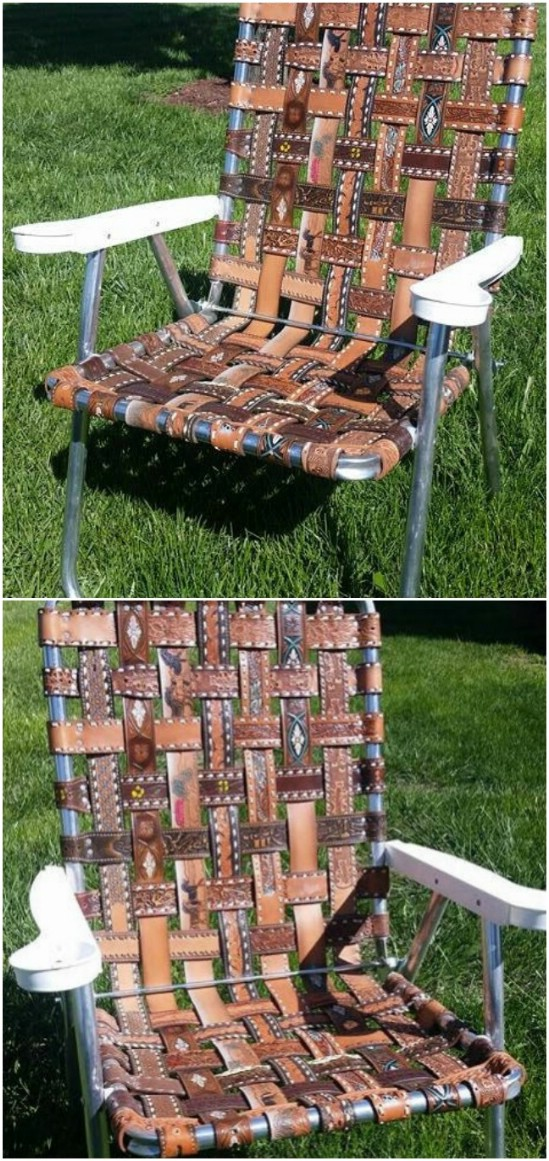 diy leather belt chair clean smell 25 creative ways to repurpose and reuse old belts - page 2 of & crafts