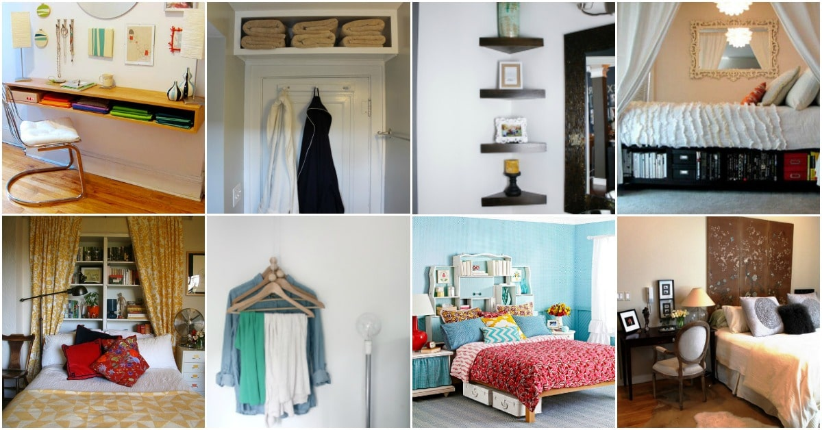 20 Space Saving Ideas And Organizing Projects To Maximize Your Small Bedroom