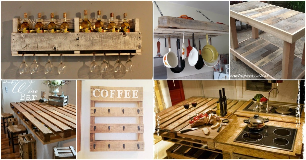 10 Brilliantly Rustic DIY Pallet Kitchen Furniture Ideas DIY & Crafts