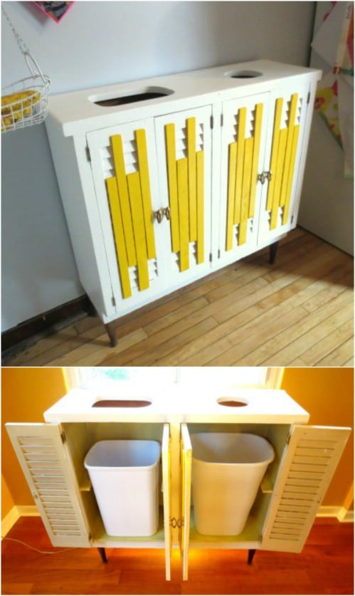 20 Diy Home Recycling Bins That Help You Organize Your