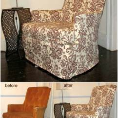 Amazon Dental Chair Covers Round Base 20 Easy To Make Diy Slipcovers That Add New Style Old Furniture Reading Slipcover