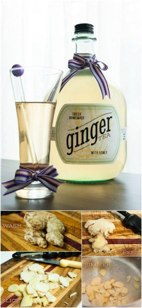 Homemade Soothing Ginger Tea