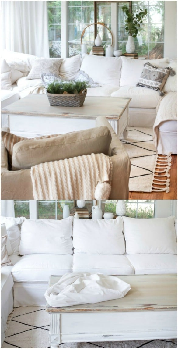 diy living room chair cover interior design small flat 20 easy to make slipcovers that add new style old furniture sheet sofa slipcover