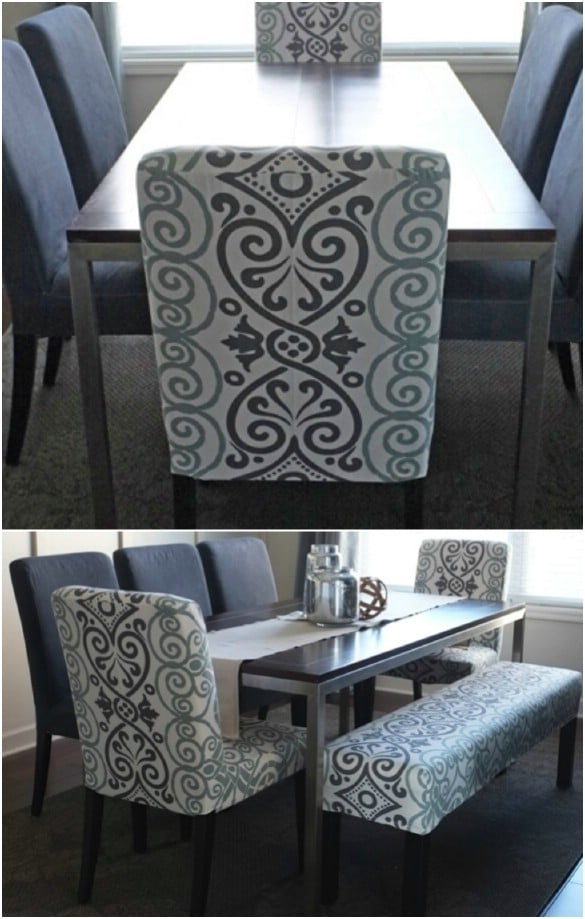 amazon dental chair covers for sale sydney 20 easy to make diy slipcovers that add new style old furniture dining from tablecloth