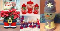 20 DIY Clay Pot Christmas Decorations That Add Charm To ...
